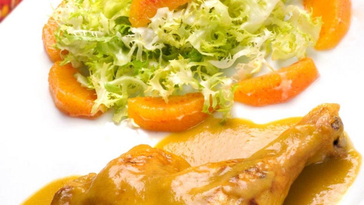 Receta de Muslos de pollo a la naranja - Karlos Arguiñano - Cocina ...