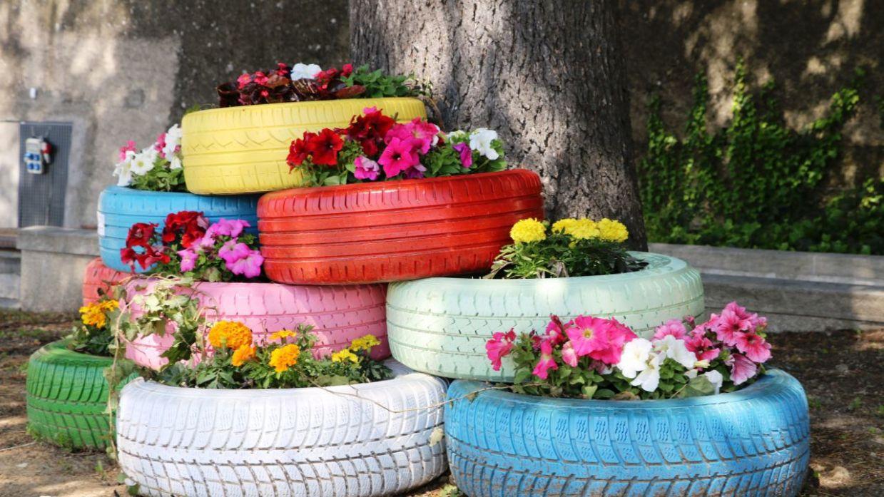 Reciclar Neumáticos Para El Jardín Bricomanía