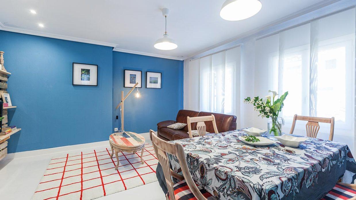 Salón comedor moderno con muebles de palés - Decogarden